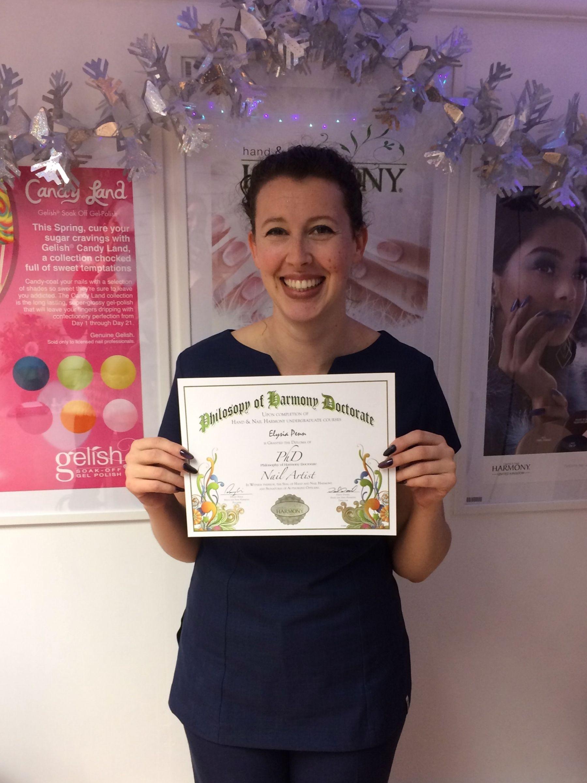 Nail Arist Certificate Holder Elysia Penn